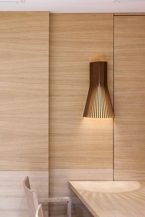 Secto Design Secto Small 4231 walnut with direct wall mounting