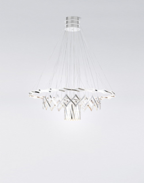 Serien Lighting Zoom LED 3 Elements brushed stainless steel