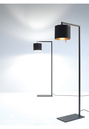 Anta Afra Floor Lamp black shade inside silver