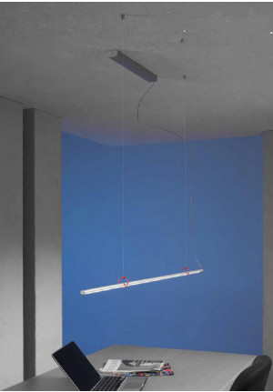 Escale Slimline pendant lamp 150 cm with red clips