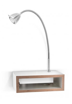 Less'n'more Eichendorff Athene Bedside Table EI-A aluminum, flex arm textile black
