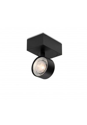 Mawa Wittenberg 4.0 ceiling lamp asymmetric LED version 5, black with head brass