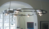 Licht im Raum Ocular 800 Low-Voltage brushed stainless steel