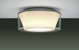 Curling Ceiling Acryl clear / conical opal M